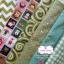 Set 6 ชิ้น : ผ้าคอตตอน 100% โทนสีเขียว 5 ลาย และผ้าแคนวาสลายตาราง แต่ละชิ้นขนาด 1/8 ม.(50x27.5ซม.) thumbnail 1