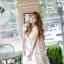 เดรสแฟชั่นเกาหลีทรงยาว พร้อมเข็มขัดในชุด กับลายดอกไม้สวยๆ thumbnail 31