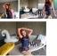 ชุดว่ายน้ำแฟชั่น แขนยาวทูโทน พร้อมกางเกงขาสั้นในชุด ในราคาคุ้มสุดๆ thumbnail 11