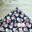 ผ้าคอตตอนไทย 100% 1/4 ม.(50x55ซม.) พื้นสีน้ำเงนกรมท่า ลายดอกกุหลาบวินเทจ thumbnail 1