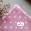 ผ้าคอตตอนลินิน 1/4ม.(50x55ซม.) พื้นสีชมพูอ่อน ลายจุดใหญ่สีขาว พาสเทล thumbnail 1