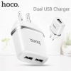 Hoco C12A Dual usb charger Adaptor 2 usb output 2.4A max