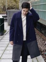 เสื้อโค้ทแจ็คเก็ตเกาหลี ดีไซน์สลับสี โมเดิร์น มี2สี