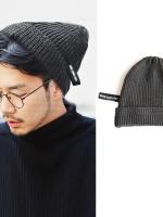 หมวกไหมพรมเกาหลี สไตล์ฮาราจูกุ แต่งป้ายเท่ มี5สี