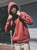 เสื้อฮู้ดแจ็คเก็ตเกาหลี จั้มขอบ ผ้าหนานุ่ม มี4สี
