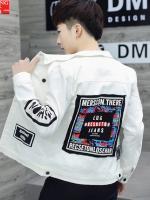 เสื้อแจ็คเก็ตเกาหลี พิมพ์ลายด้านหลัง ดีไซน์กระเป๋าเสื้อ มี3สี