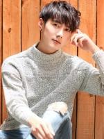 เสื้อแขนยาวเกาหลีผ้าขนสัตว์ อุ่นหนา ดีไซน์เส้นตาราง มี4สี