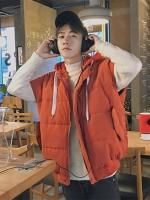 เสื้อฮู้ดกั๊กแจ็คเก็ตเกาหลี ทรงหลวม แนวพองๆ มี3สี
