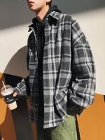 เสื้อแจ็คเก็ตเกาหลี แต่งลายสก็อต หนานุ่ม มี2สี
