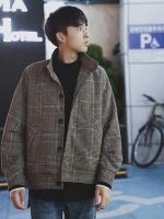 เสื้อคลุมแจ็คเก็ตเกาหลี แต่งกระเป๋าเสื้อเฉียง มี2สี
