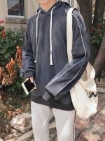 เสื้อฮู้ดกันหนาวเกาหลี ดีไซน์เชือกรูด จั้มแขน มี3สี