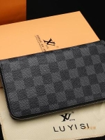 กระเป๋าสตางค์เกาหลี ใบยาวลายสก็อต แต่งช่องใส่โทรศัพท์ มี2สี