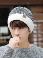 หมวกขนสัตว์แคชเมียร์หนาเกาหลี แต่งขอบสลับสี มี3สี