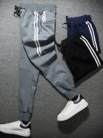 กางเกงวอร์มขายาวเกาหลี แต่งแถบเส้นครึ่งตัวด้านข้าง มี3สี