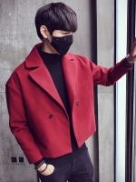 เสื้อแจ็คเก็ตสูทเกาหลี ดีไซน์คอปก แนวแฟชั่น มี3สี