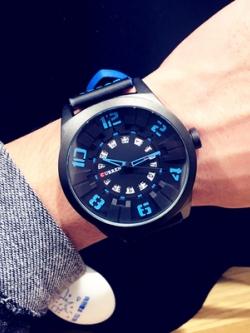 นาฬิกาข้อมือเกาหลี แต่งเลขหน้าปัดสีสัน มี3สี