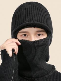 หมวกไหมพรมเกาหลี หนาอุ่นสบาย ดีไซน์หน้ากาก มี3สี