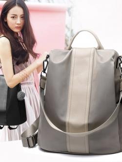 กระเป๋าเป้สะพายเกาหลี แต่งสายสะพาย ช่องเก็บของขนาดใหญ่ มี4สี