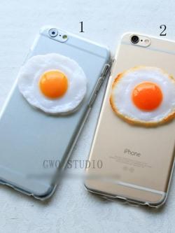 เคสไอโฟน/iPhone ตกแต่งรูปไข่ดาวน่ารักน่ากิน มี2แบบ
