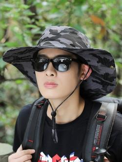 หมวกปีกกว้างเกาหลี ลายพรางทหาร แนวลำลอง มี4สี