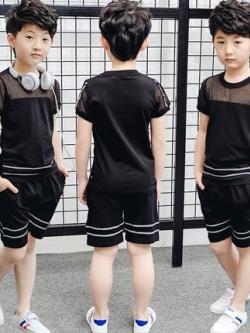 เสื้อเซทเด็กเข้าชุดเกาหลี แนวSport เสื้อ+กางเกง มี3สี