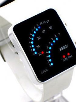 นาฬิกาข้อมือเกาหลี Skmei ดีไซน์ LED เรืองแสงอิเล็กทรอนิกส์ มี4สี