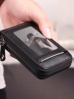 กระเป๋าสตางค์เกาหลี แต่งซิบเปิดปิด ดีไซน์เท่ มี3สี