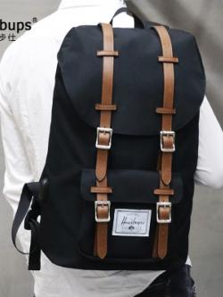 กระเป๋าเป้สะพายหลัง แต่งสายรัดเข็มขัด แนวเดินทาง มี2สี