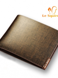 กระเป๋าสตางค์แนวนอนเกาหลี Le squirrel สี Gold หรูหราเรียบสวย