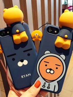 เคสไอโฟน/iPhone แต่งรูปหมีสามมิติ สไตล์เกาหลี มี2แบบ