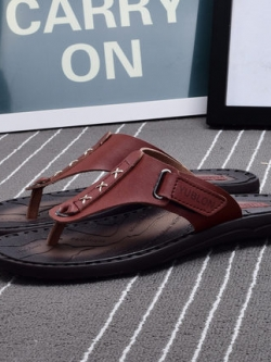 รองเท้าแตะเกาหลี แบบคีบ แต่งเรียงกากบาท มี3สี
