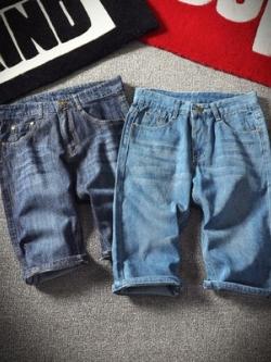 กางเกงยีนส์ขาสั้นเกาหลี ทรงหลวม สไตล์ลำลอง มี2สี