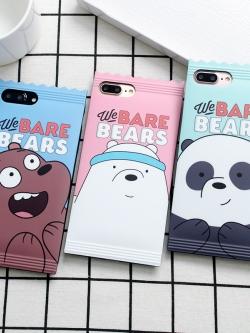เคสไอโฟน 7/7Plus/6/6S/6Plus เคสซิลิโคนลายการ์ตูนหมีเป็นซองขนม iPhone7/7Plus/6/6S/6Plus Case