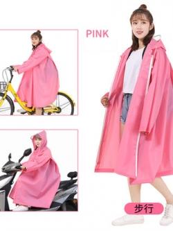 เสื้อฮู้ดกันฝนตัวยาวเกาหลี เรียบสวย แนวแฟชั่น มี3สี