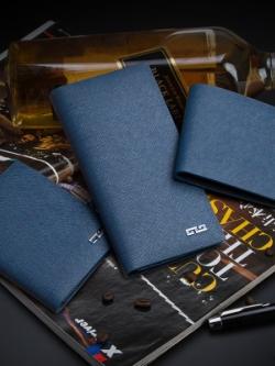 กระเป๋าสตางค์เกาหลี สีฟ้าน้ำเงิน เนื้อนิ่ม ดีไซน์ Armani