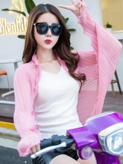ผ้าคลุมไหล่เกาหลี กันรังสียูวี แนวขับรถ มี7สี