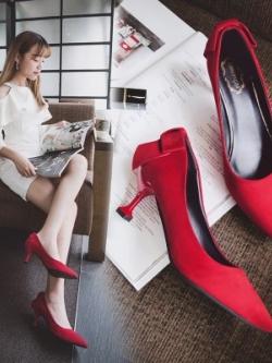 รองเท้าส้นสูงเกาหลี ดีไซน์เก๋ แนวแฟชั่น มี3สี
