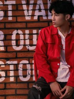 เสื้อแจ็คเก็ตเกาหลี เรียบสวย แต่งกระเป๋าเสื้อคู่ที่อก มี4สี