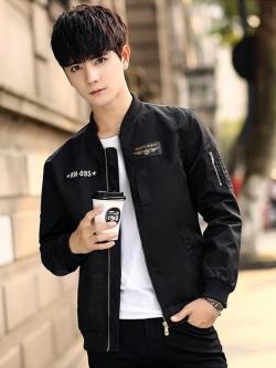 Pre Order เสื้อแจ็คเก็ตแนวเบสบอล แฟชั่นเกาหลี แขนยาวแต่งลายเท่ห์ มี2สี