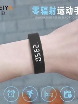 นาฬิกาข้อมือเกาหลี สายรัดยางยืด ดิจิตอลสุดเท่ มี6สี
