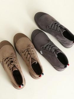 รองเท้ากำมะหยี่เกาหลี แนวลำลอง ทรงวินเทจ มี2สี