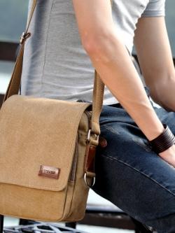 กระเป๋าสะพายข้างเกาหลี แต่งฝาเปิดปิดกระเป๋า มี2สี