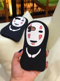 เคสไอโฟน 7/7Plus/6/6Plus/5/5S เคสซิลิโคนตัวการ์ตูนผีไร้หน้าญี่ปุ่น iPhone7/7Plus/6/6Plus/5/5S Case