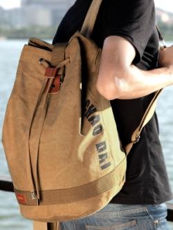 กระเป๋าเป้สะพายหลัง สไตล์กระสอบ แนวลำลอง มี2สี