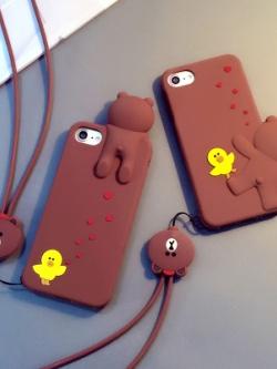 เคสไอโฟน 6/7/6plus/7plus แต่งรูป Brown&Sally มี2แบบ