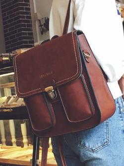กระเป๋าสะพายหลังเกาหลี แนวลำลอง ดีไซน์เท่ มี4สี