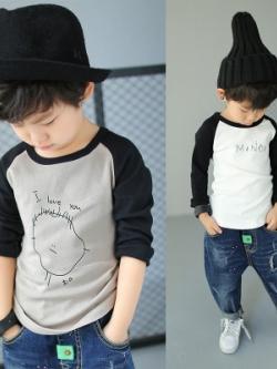 เสื้อแฟชั่นแขนยาวเด็กเกาหลี ดีไซน์เท่ มี3สี