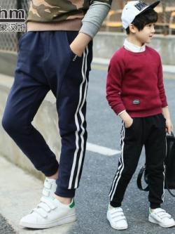 กางเกงวอร์มเด็กขายาวเกาหลี แต่งแถบเส้นด้านข้าง มี4สี