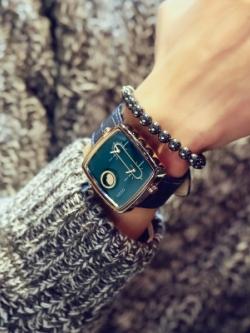 นาฬิกาข้อมือเกาหลี ควอทซ์กันน้ำ ทรงยุโรปอเมริกา มี2สี