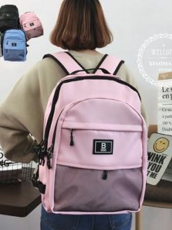 กระเป๋าเป้เกาหลี ขนาดใหญ่ schoolbags ดีไซน์ชั้นเก็บของ มี4สี